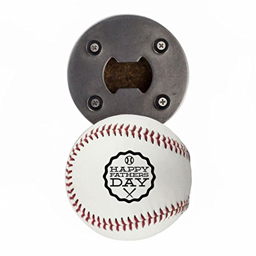 - Buffalo BottleCraft Baseball Father's Day Gift, Bottle Opene made from a real Baseball, Happy Father's Day, Cap Catcher, Fridge Magnet