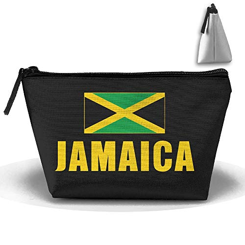 Louise Morrison Jamaica Flag Pen Stationery Pencil Case Cosmetic Makeup Bag Pouch -