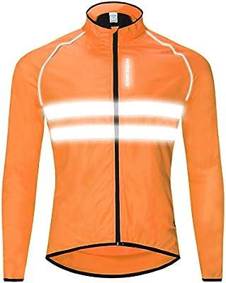 WOSAWE Hombres Ropa Ciclismo, Transpirable Chaqueta de Ciclismo ...