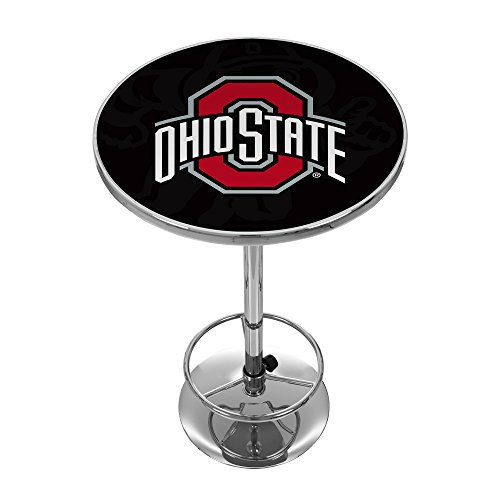 NCAA Ohio State University ''Shadow Brutus'' Chrome Pub Table by Trademark Gameroom