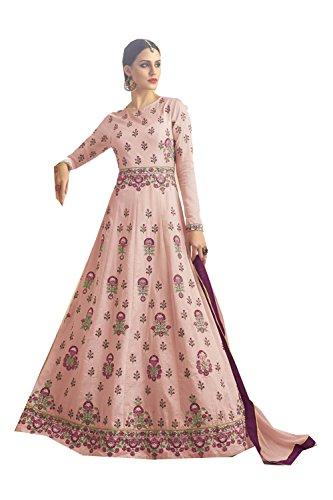 Da Facioun Indian Women Designer Partywear Ethnic Traditonal Light Pink Anarkali Salwar Kameez. by Da Facioun