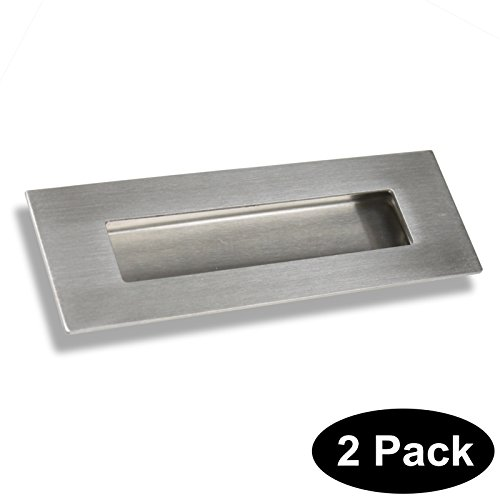 Rectangular Finger Pull (6 in Rectangular Recessed Sliding Door Handles Finger Pulls Flush 304# Stainless Steel 2)