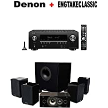 Denon AV Component Receiver (AVRS940H) + Energy 5.1 Take Classic Home Entertainment System (Set of Six, Black) Bundle