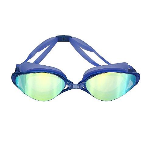iGopeaks UV Swimming Goggles - Mirror Coated Lenses - No Leaking - Anti-Fog - Shatterproof - UV Protection - Triathlon Swim Gear for Adult Sphere Men Women Youth - - Triathlon Swim Gear