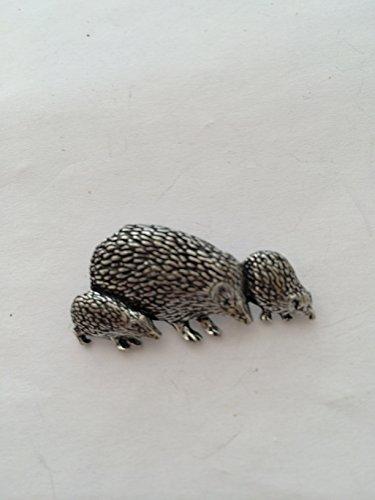A46famille Hedgehog broches Badge Badge à épingle étain anglais avec un cadeau prideindetails Paquet