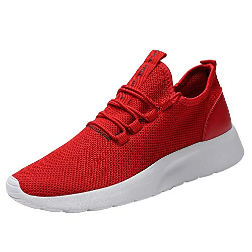 Vamtic Mens Volleyball Shoes Casual Walking Sneakers Fashion Workout Athletic Footwear for Men Sport Running Training Gym(Red46)
