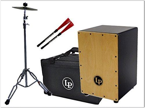 LP(エルピー)カホン LP1442-BK-SPL-BRUSHES(黒いカホン)ケース/シンバル/カホンブラシ付き   B00SQOYQDE