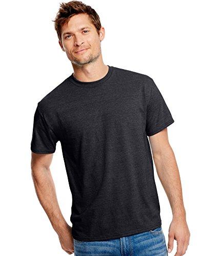 Hanes Men`s X-Temp Fresh IQ Tri-Blend Performance Tee, 42TB, XL, Slate Heather (T-shirt Blend Polyester)