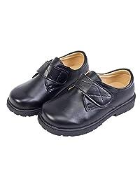 WUIWUIYU Boys Senior Junior Students Professional Performance School Uniform Dress Shoes Black Oxfords