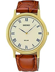 Seiko Mens SUP876 Analog Display Japanese Quartz Brown Watch