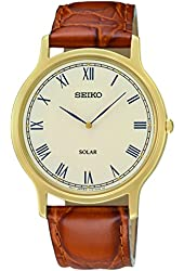 Seiko Men's SUP876 Analog Display Japanese Quartz Brown Watch