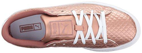 Pictures of PUMA Basket Met Emboss Kids Sneaker Copper 2
