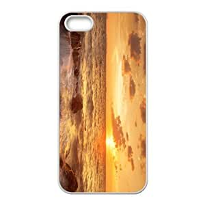 The Sunrise And Beach Hight Quality Plastic Case for Iphone 5s