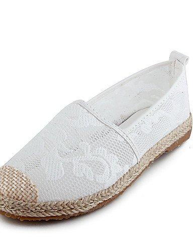 ZQ gyht Zapatos de mujer-Tacón Plano-Punta Redonda-Zapatos Náuticos-Exterior / Casual / Deporte-Semicuero-Negro / Blanco , white-us8 / eu39 / uk6 / cn39 , white-us8 / eu39 / uk6 / cn39 black-us6.5-7 / eu37 / uk4.5-5 / cn37