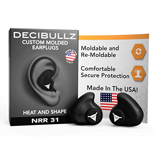 Decibullz – Custom Molded Earplugs, 31dB Highest NRR, Comfortable Hearing Protection for Shooting, Travel, Swimming…