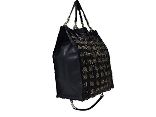 """The Original NibbleNet® Double-Nibble 12"""" Deep w/ 2"""""""" Slow Feed Hay Bag by Thin Air Canvas, Inc. by The Original NibbleNet®"""