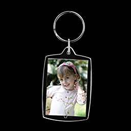 PIXNOR 10pcs Rectangle Photo Snap-in Key Chain 45.6cm