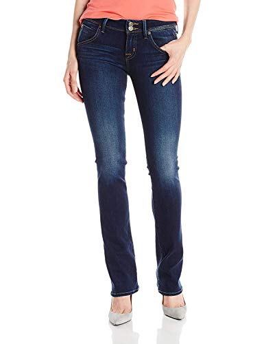 Hudson Jeans Women's Beth Midrise Baby Bootcut Flap Pocket Elysian Denim Jean, Corps, 28