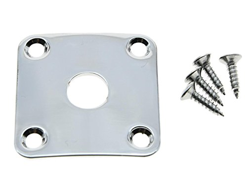 - Dopro Chrome Metal Curved Base Bottom Jack Plate Square Jackplate fits Gibson LP Les Paul