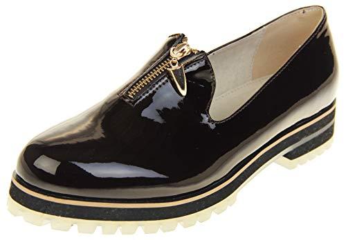 Keddo Womens Patent Loafers Work Shoes Bordeaux 7 B(M) US