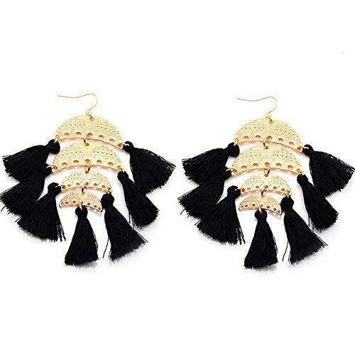 Model ERRNGS Endicot 1 Pair Fashion Elegant Women Tassel Rhinestones Ear Stud Fashion Earrings Chain 17814