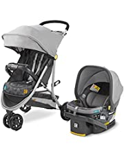 Century Stroll On 3-Wheel 2-in-1 Lightweight Travel System – Infant Car Seat and Stroller Combo, Metro