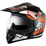 Vega Off Road D/V Fighter Black Orange Helmet, M