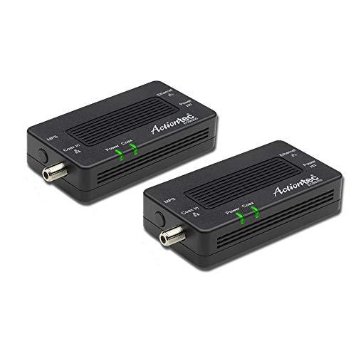 Adaptador de red Ethernet a través de coaxial (2 unidades)