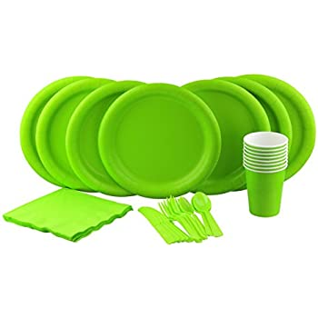 Party Lovers Premium Party Supplies Disposable Dinnerware Set - 20pc Includes Lime Green Dinner Plates  sc 1 st  Amazon.com & Amazon.com: Party Lovers Premium Party Supplies Disposable ...