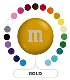 M&M\'s Gold Milk Chocolate Candy 1LB Bag