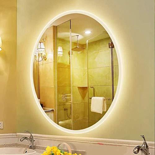 L&ED Backlight Mirror, Modern Illuminated LED Bathroom Mirror, Oval, LED Lighted Vanity -