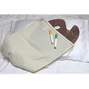DIY - Drawstring Cotton Backpack Bag - Set Of 2 - Best For Coloring and Embroidering