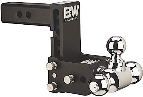 B/&W Hitches TS10048B Tow /& Stow Model 8 5-5.5 Adjustable Triple Ball Mount Hitch and 5//8 Black Receiver Hitch Lock B/&W Trailer Hitches