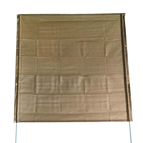 Tarps XUERUI Shading Net Sun Shade Privacy Panel with Grommets and Hems On 4 Sides for Patio, Awning, Window, Pergola Or Gazebo (Color : Brown, Size : 1.8X1.8M)