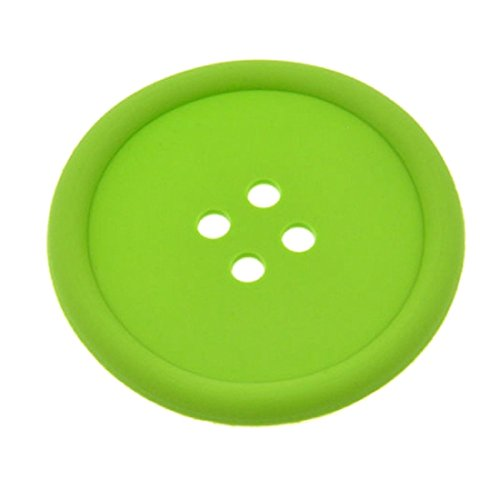 Silicone Coffee Placemat Button Coaster Cup Mug Glass Beverage Holder Mat Pads Coffee Pad eco-friendly