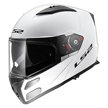 LS2FF324Metro - Casco de moto con Bluetooth y tapa frontal, con