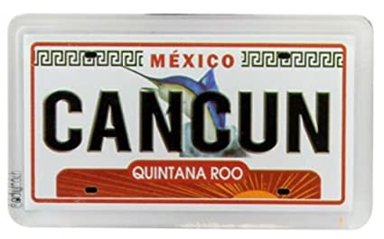Amazon.com: Cancun Mexico License Plate nevera Imán de ...