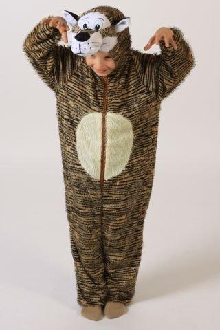 Foxxeo 10276 | Tigerkostüm Kostüm Tiger für Kinder Kinderkostüm Tier Tierkostüm Gr. 98/104 - 134/140, Größe:122/128