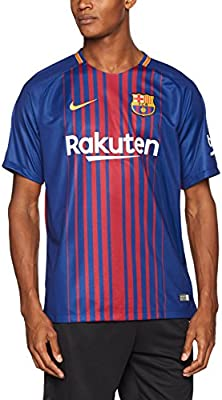 f46afa112eb Amazon.com : Nike Barcelona Home Jersey 2017 / 2018 : Sports & Outdoors