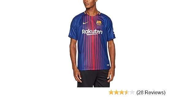 Nike 2017/18 FC Barcelona Stadium Jersey with Sponsor [DEEP Royal Blue]