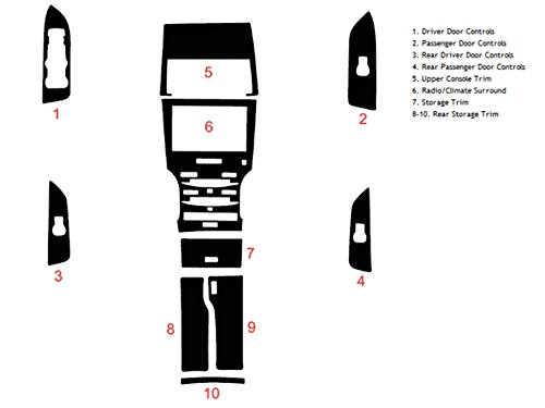 Rdash Dash Kit Decal Trim for Lincoln MKZ 2013-2016 - Wood Grain (Burlwood Honey) (Burlwood Honey)
