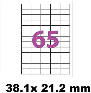 wei/ßer Klebstoff 440 Mini Klebeetiketten auf A4-Bl/ättern 50 x 25 mm 44 Etiketten pro Blatt UniversGraphique Ref UGE44V02 10 Bl/ätter