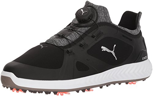PUMA Golf Men's Ignite Pwradapt Disc Golf Shoe, Black, 9.5 Medium US