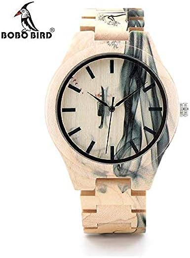Reloj W-O17 con Efecto Humo Bobo Bird ESPAÑA 2019: Amazon.es: Relojes