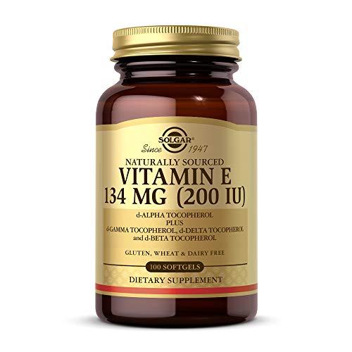 Solgar Vitamin E 200 IU, 100 Softgels – Natural Antioxidant, Skin & Immune System Support – Naturally-Sourced Vitamin E…