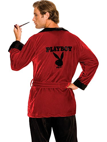 Hugh Hefner Halloween (Secret Wishes Costume Playboy Smoking Jacket, Hef,)