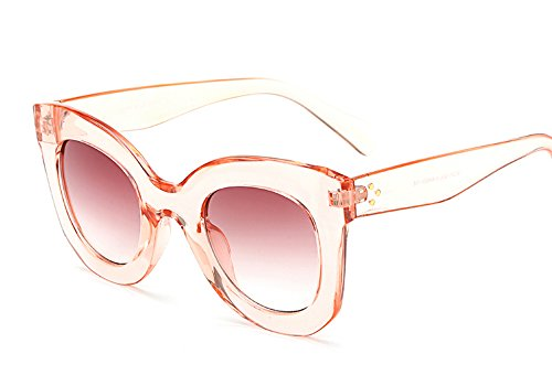 Butterfly Sunglasses Semi Cat Eye Glasses Plastic Frame Clear Gradient Lenses (Pink, - Frame Gradient Clear