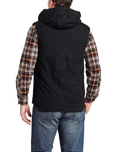 Carhartt Men's Sandstone Hooded Multi Pocket Vest Sherpa Lined