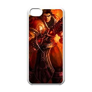 iPhone 5c Cell Phone Case White League of Legends Sanguine Garen OIW0440356