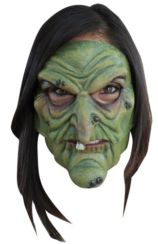 Green Witch Mouth Moving Mask]()